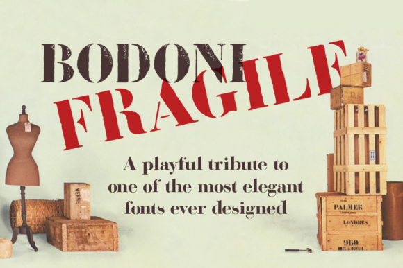Print on Demand: Bodoni Fragile Serif Font By Mario Arturo