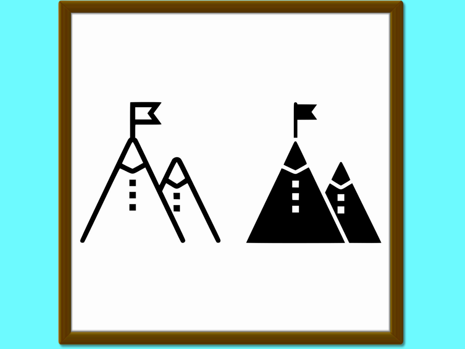 Download Free Business Mission Line And Glyph Icon Dev Graphic By Anrasoft for Cricut Explore, Silhouette and other cutting machines.