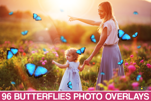 Butterfly Overlay, Butterflies Photoshop Graphic Actions & Presets By 2SUNS