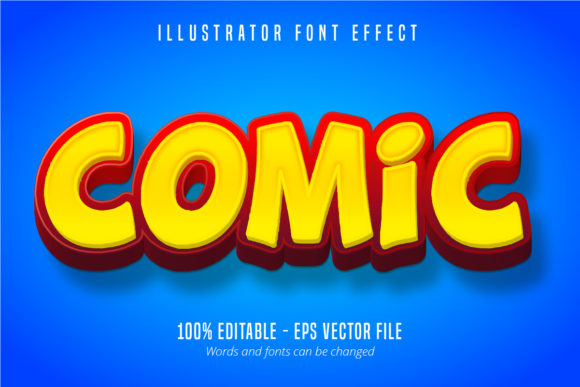 Download Free Comic Text 3d Editable Font Effect Graphic By Mustafa Beksen for Cricut Explore, Silhouette and other cutting machines.