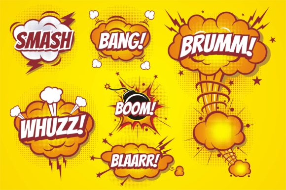 Comic Boom Pop Art Graphic