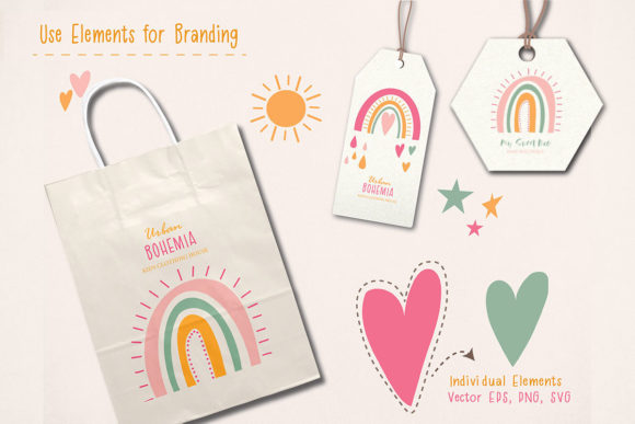 Cute Rainbow Illustration Clipart Set Graphic Illustrations By EssentiallyNomadic - Image 2