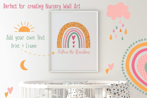 Cute Rainbow Illustration Clipart Set Graphic Illustrations By EssentiallyNomadic - Image 4