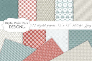 Print on Demand: Damask Digital Paper Pack, Textures Graphic Textures By DesignItfor