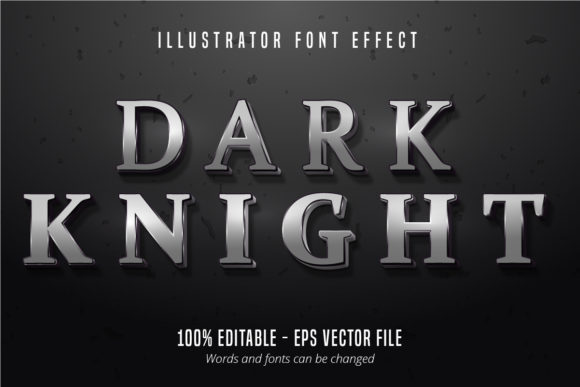 Download Free Dark Knight Text Silver Editable Font Graphic By Mustafa Beksen for Cricut Explore, Silhouette and other cutting machines.