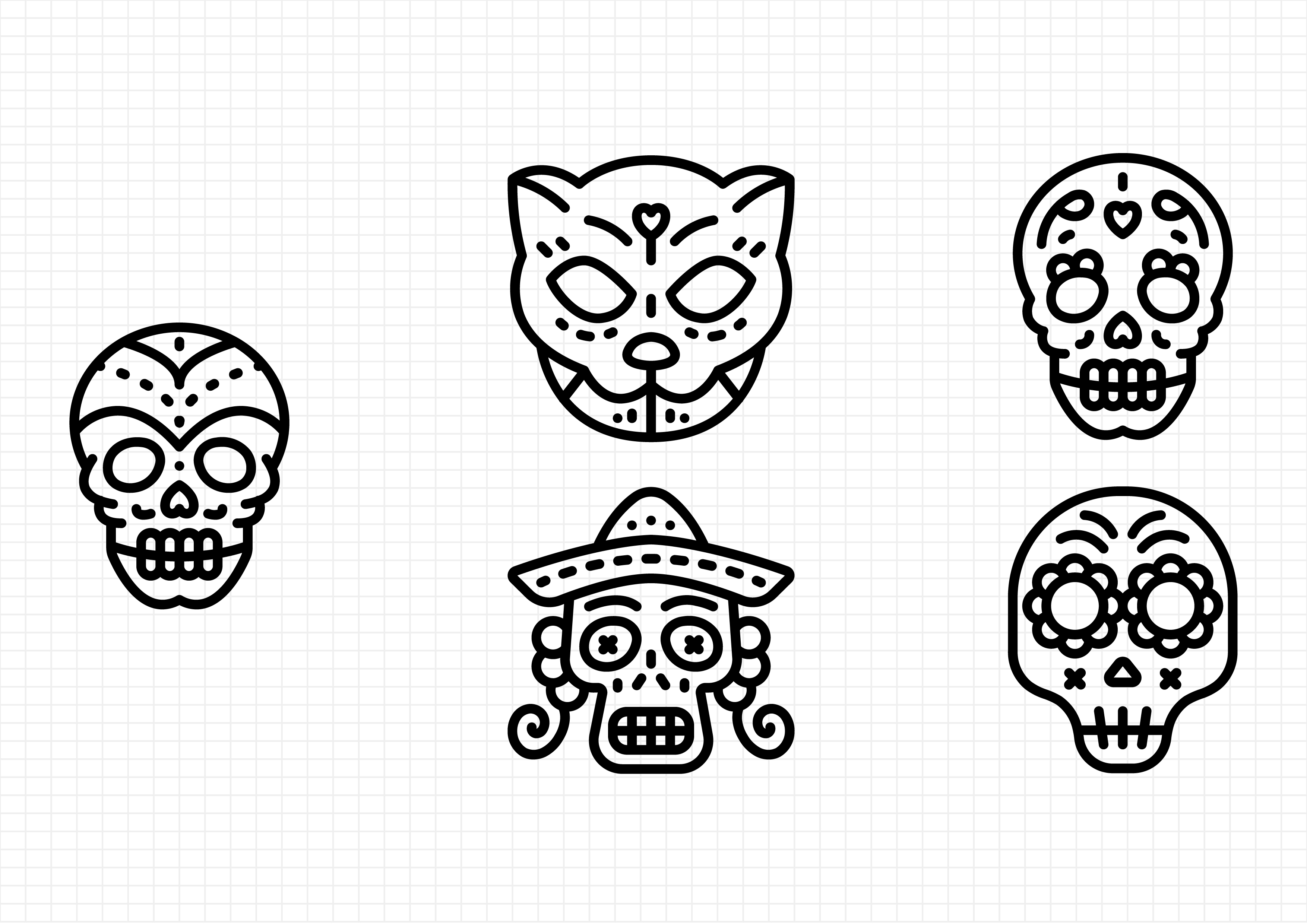 Download Free Day Of The Dead Graphic By Beryladamayu Creative Fabrica for Cricut Explore, Silhouette and other cutting machines.