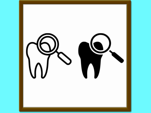 Download Free Dental Check Up Line And Glyph Icon Stom Graphic By Anrasoft for Cricut Explore, Silhouette and other cutting machines.