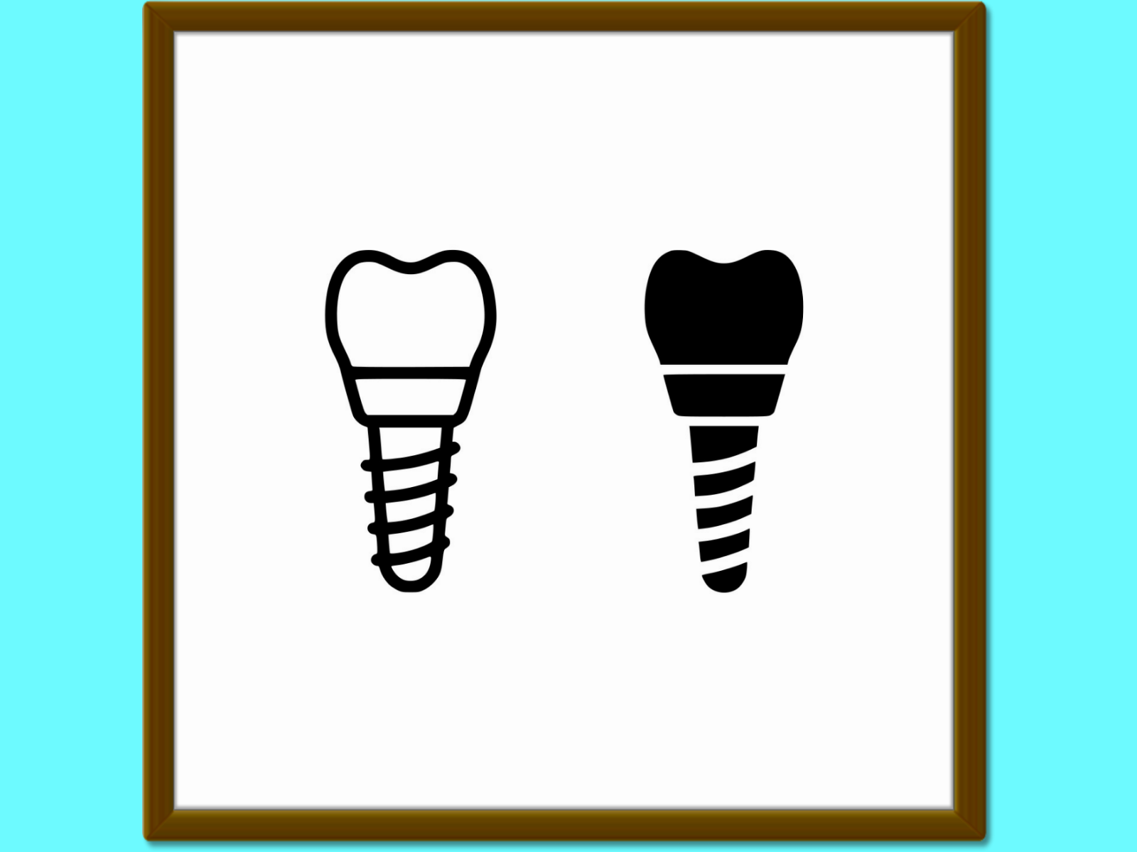 Download Free Dental Implant Line And Glyph Icon Stoma Graphic By Anrasoft for Cricut Explore, Silhouette and other cutting machines.