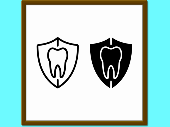 Download Free Dental Protection Line And Glyph Icon St Graphic By Anrasoft for Cricut Explore, Silhouette and other cutting machines.