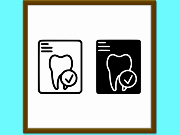 Download Free Dental Tooth Report Line And Glyph Icon Graphic By Anrasoft SVG Cut Files