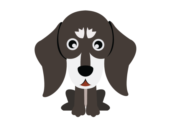 Download Free Dog Flat Design Icon Silhouette Graphic By 1riaspengantin SVG Cut Files