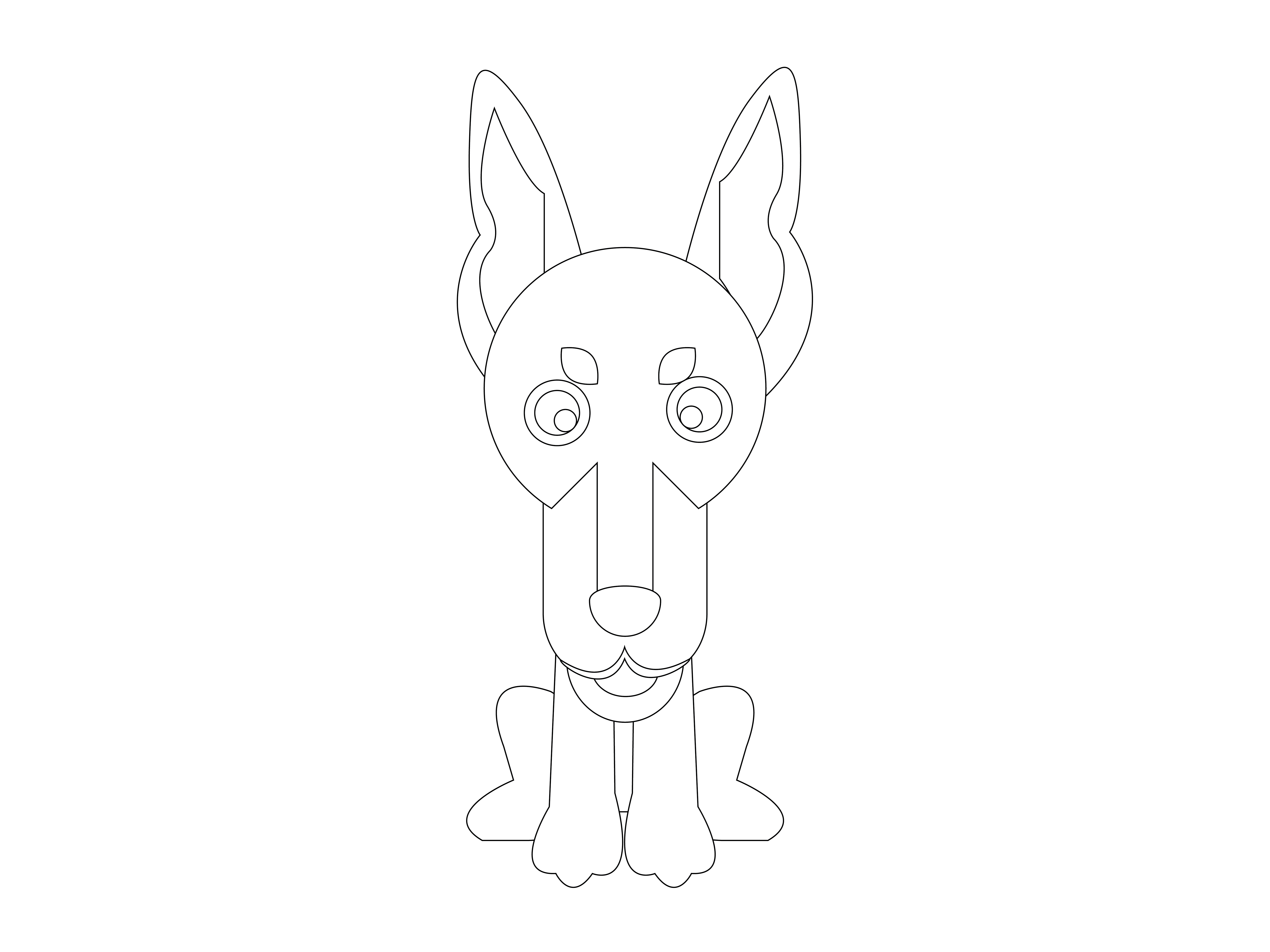 Dog Flat Design Vector Icon Outline Graphic By 1riaspengantin