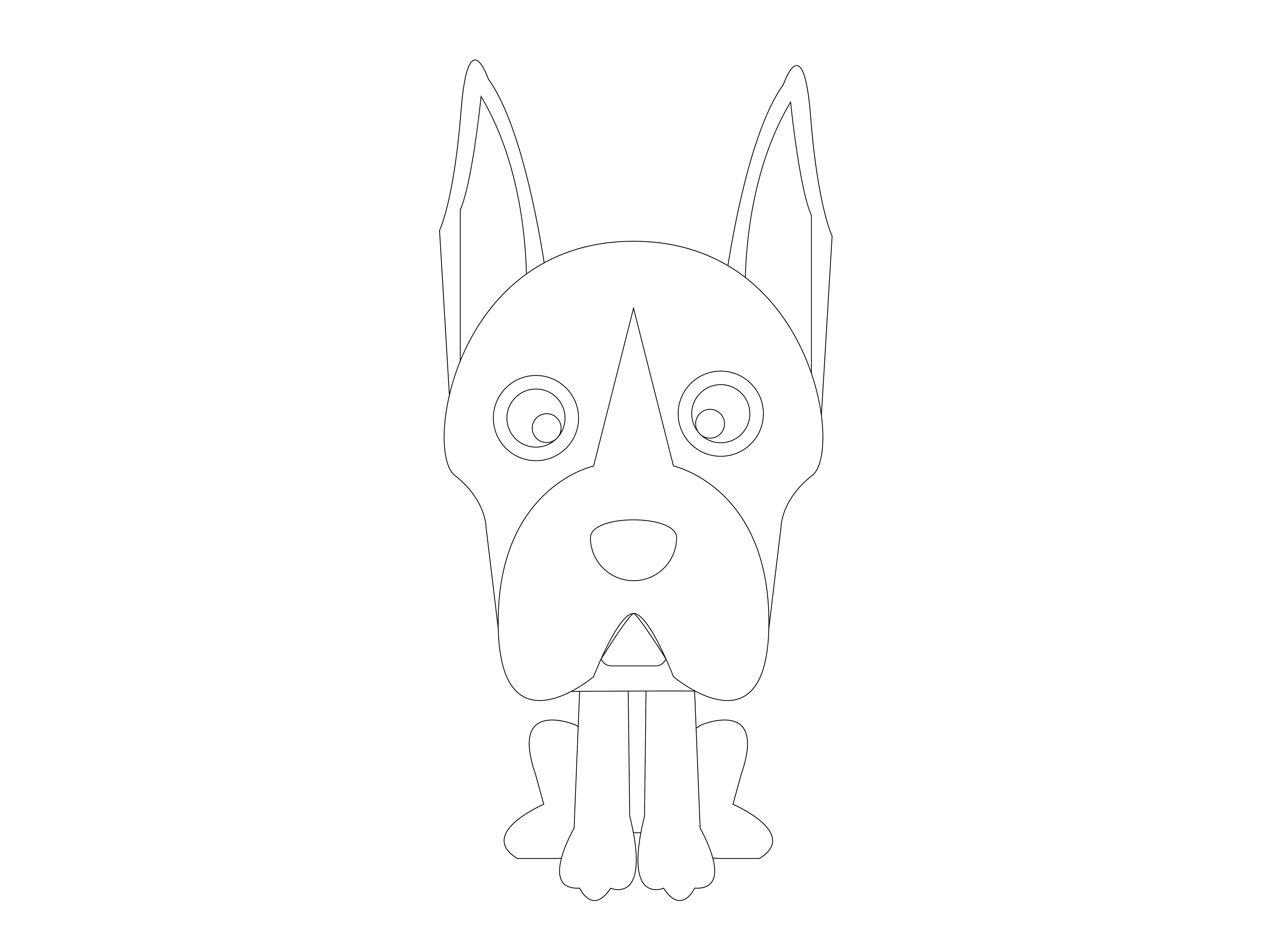 Dog Flat Design Vector Icon Silhouette Graphic By 1riaspengantin