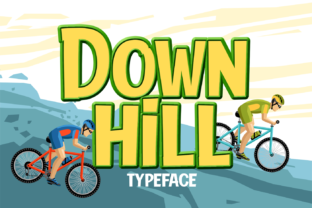 Print on Demand: Down Hill Display Font By brithostype
