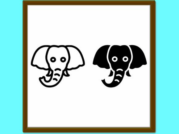 Download Free Elephant Line And Glyph Icon Animal And Graphic By Anrasoft for Cricut Explore, Silhouette and other cutting machines.