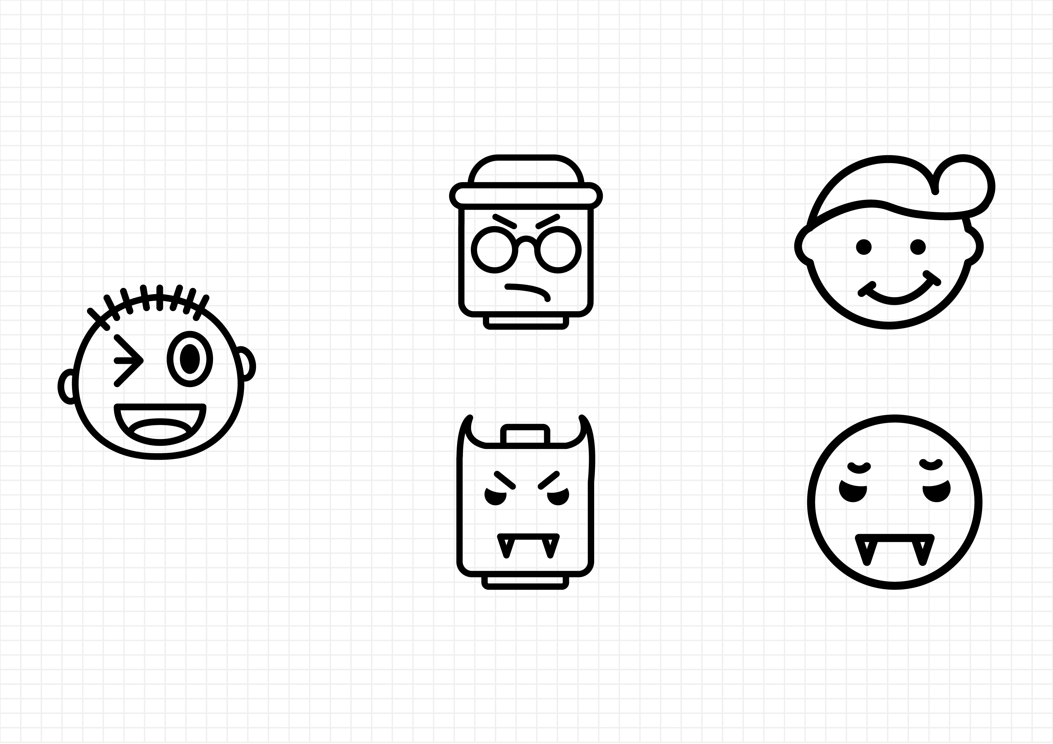 Download Free Emoticons Collection Graphic By Beryladamayu Creative Fabrica for Cricut Explore, Silhouette and other cutting machines.