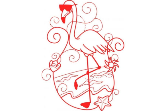 Enchanted Flamingo Birds Embroidery Design By Sue O'Very Designs