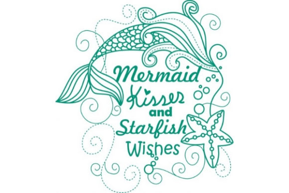 Enchanted Mermaid Fairy Tales Embroidery Design By Sue O'Very Designs - Image 1