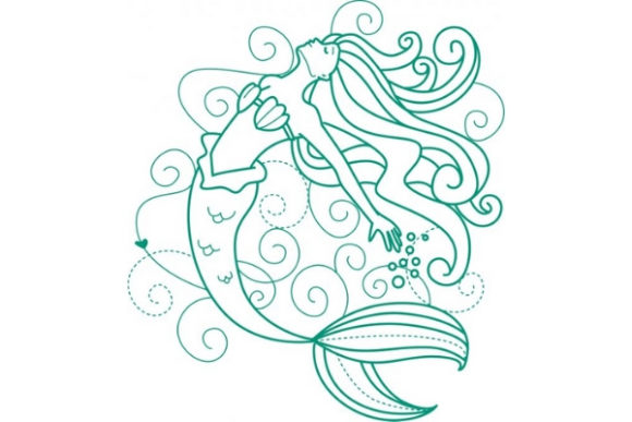 Download Free Enchanted Mermaid Creative Fabrica for Cricut Explore, Silhouette and other cutting machines.