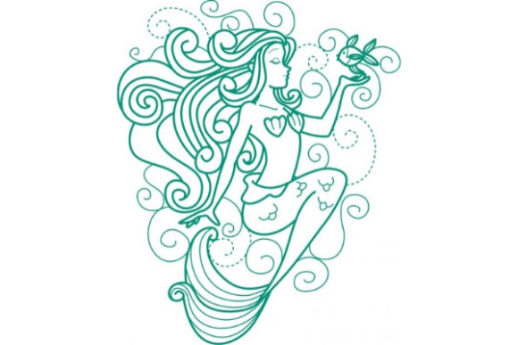 Enchanted Mermaid Fairy Tales Embroidery Design By Sookie Sews