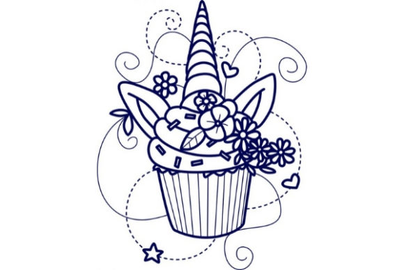 Enchanted Unicorn Fairy Tales Embroidery Design By Sue O'Very Designs - Image 1