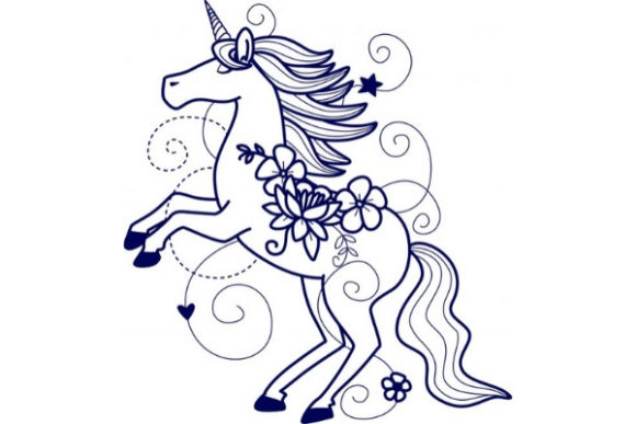Enchanted Unicorn Fairy Tales Embroidery Design By Sue O'Very Designs