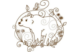 Download Free Enchanted Woodland Animals Creative Fabrica for Cricut Explore, Silhouette and other cutting machines.