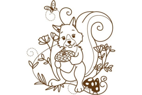 Enchanted Woodland Animals Woodland Animals Embroidery Design By Sue O'Very Designs - Image 1
