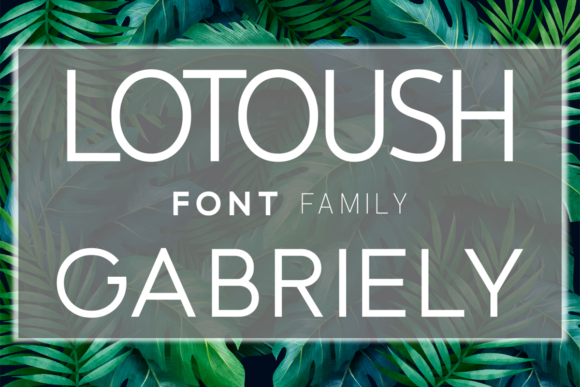 Print on Demand: Family Set (Lotoush and Gabriely)  By Huntype