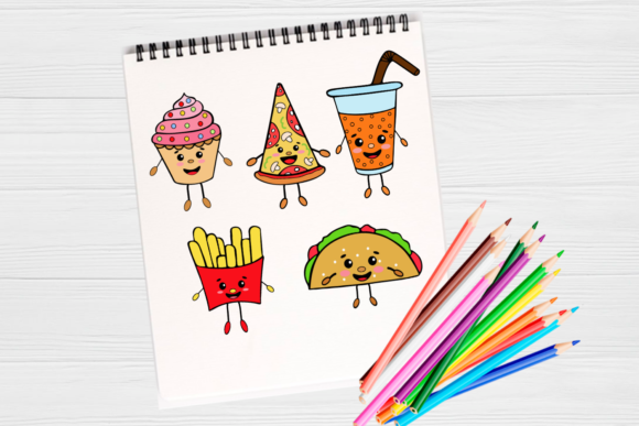 Download Free Fast Food Clipart Cute Kawaii Design Grafico Por Magic World Of for Cricut Explore, Silhouette and other cutting machines.