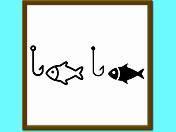Download Free Fishing Line And Glyph Icon Animal And U Graphic By Anrasoft SVG Cut Files