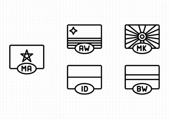 Download Free Flags Graphic By Beryladamayu Creative Fabrica for Cricut Explore, Silhouette and other cutting machines.