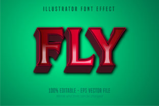 Print on Demand: Fly Text, Editable Text Effect Graphic Graphic Templates By Mustafa Bekşen