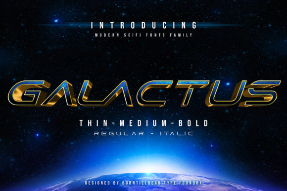Print on Demand: Galactus Display Font By Burntilldead
