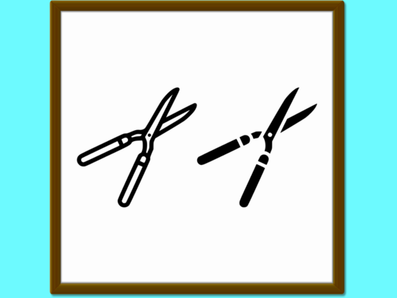 Download Free Garden Shears Line And Glyph Icon Farmin Graphic By Anrasoft for Cricut Explore, Silhouette and other cutting machines.