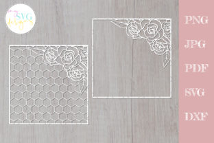 Geometric Flower Pattern, Floral  Graphic Crafts By MySVGDesigns
