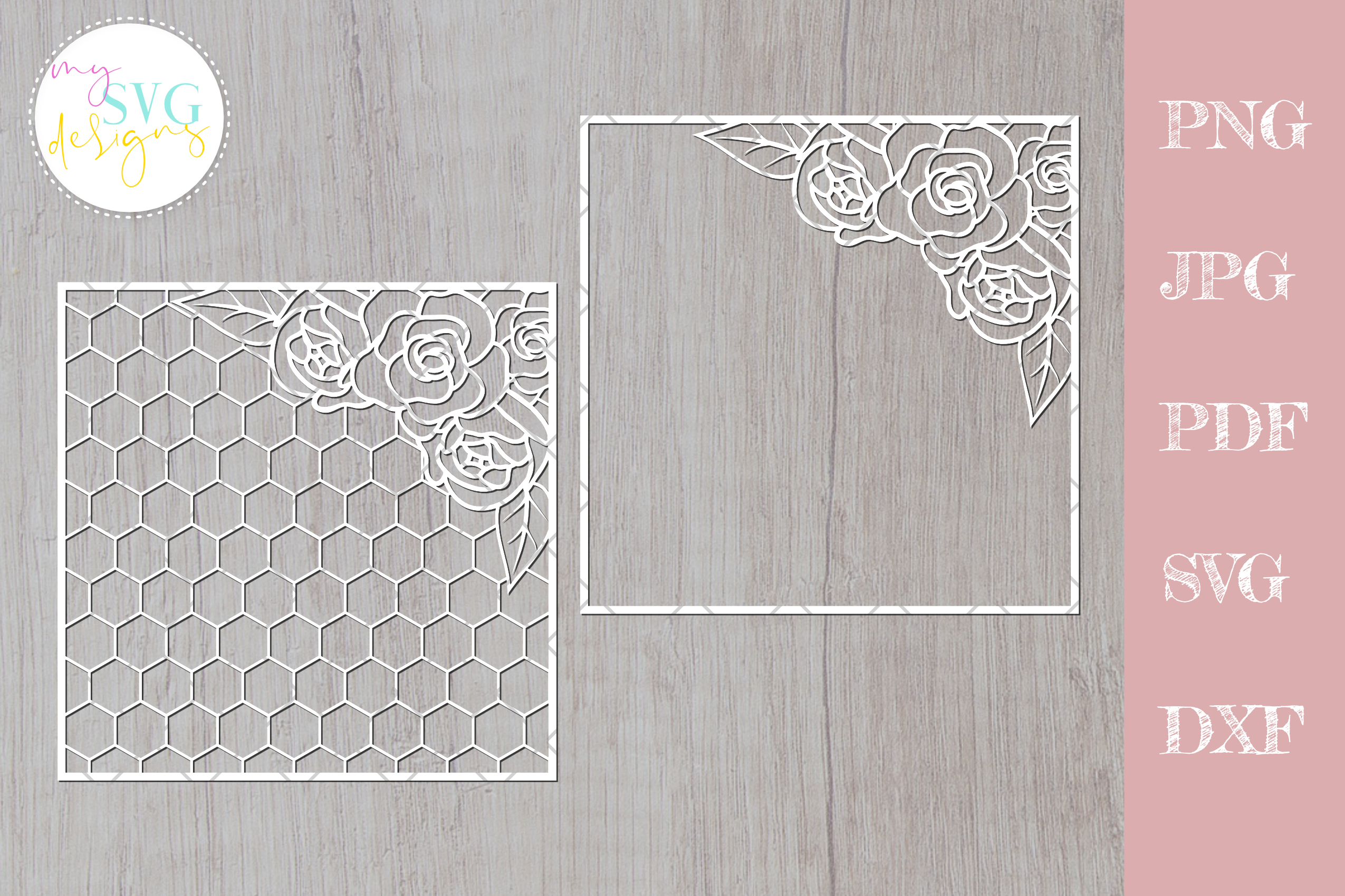 Download Free Geometric Flower Pattern Floral Graphic By Mysvgdesigns for Cricut Explore, Silhouette and other cutting machines.