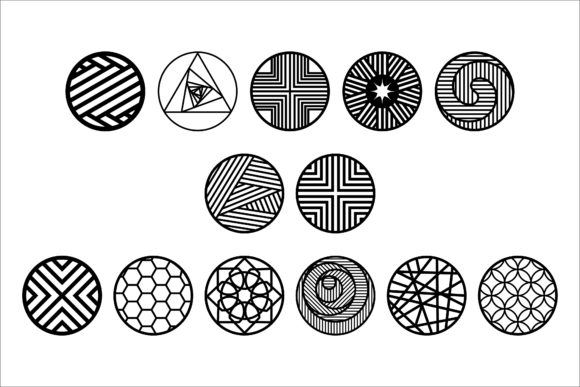 Download Free Geometric Pattern Cut Files Graphic By Bn3300877 Creative Fabrica for Cricut Explore, Silhouette and other cutting machines.