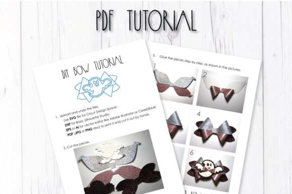 Download Free Ghost Bow Template Graphic By Articuties Creative Fabrica for Cricut Explore, Silhouette and other cutting machines.