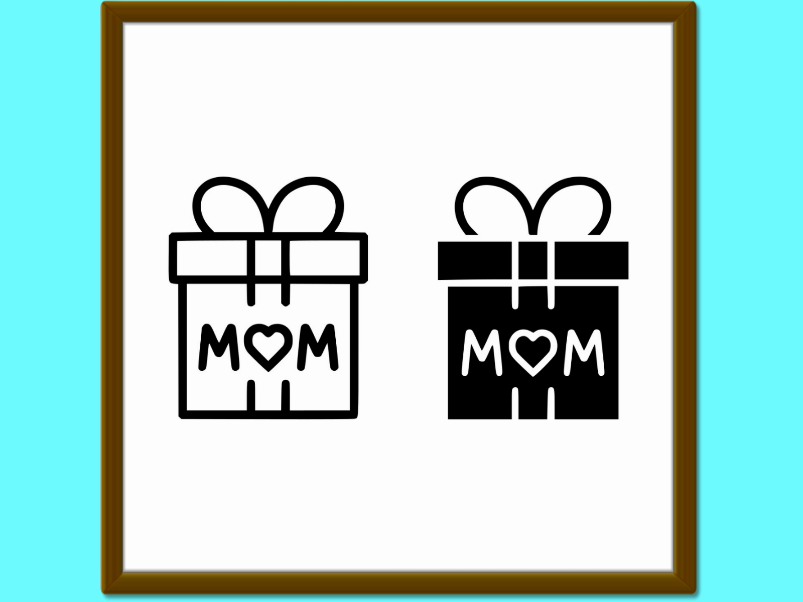 Download Free Gift For Mom Line And Glyph Icon Present Graphic By Anrasoft for Cricut Explore, Silhouette and other cutting machines.
