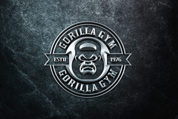 Download Free Gorilla Gym Kettlebell Graphic By Herulogo Creative Fabrica for Cricut Explore, Silhouette and other cutting machines.