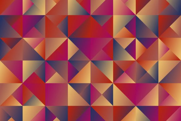 Gradient Triangle Mosaic Background Graphic Backgrounds By davidzydd