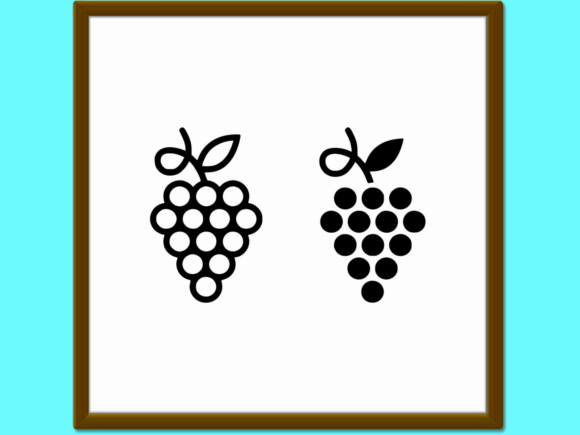 Download Free Grapes Line And Glyph Icon Fruit And Pla Graphic By Anrasoft for Cricut Explore, Silhouette and other cutting machines.