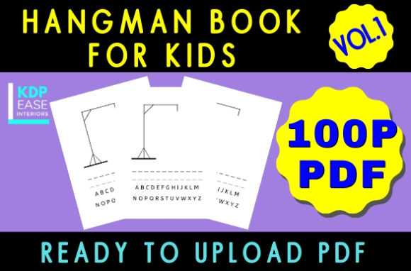 Print on Demand: Hangman Activity Book for Kids (Vol 1) Graphic KDP Interiors By KDP EASE