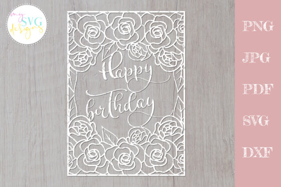 Download Free Happy Birthday Cutting File Graphic By Mysvgdesigns Creative for Cricut Explore, Silhouette and other cutting machines.