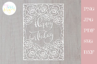 Happy Birthday Cutting File Graphic Crafts By MySVGDesigns