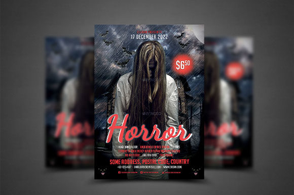 Horror Flyer Template Graphic Print Templates By Ciusan