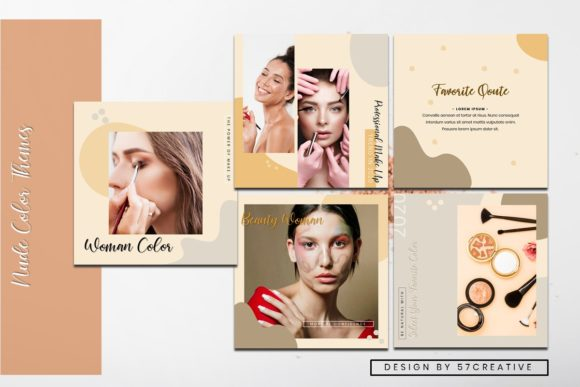 Instagram Feed Tamplate - Make Up Graphic Presentation Templates By 57creative