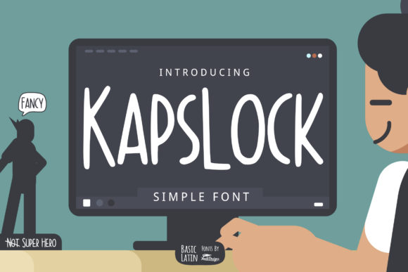 Print on Demand: Kapslock Display Font By YandiDesigns