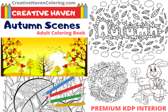 Download Free 1 Autumn Dreamlings Coloring Book Designs Graphics for Cricut Explore, Silhouette and other cutting machines.